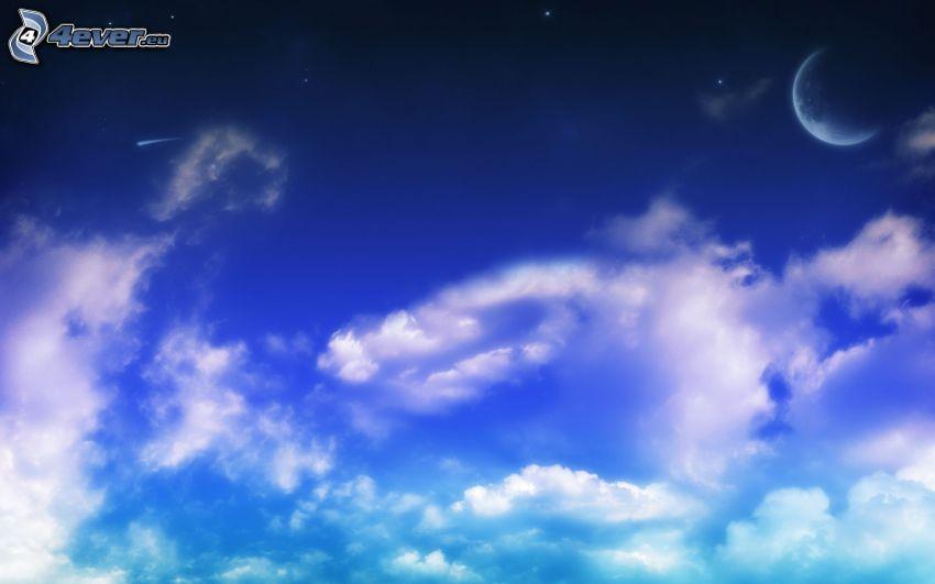 Wolken, Mond