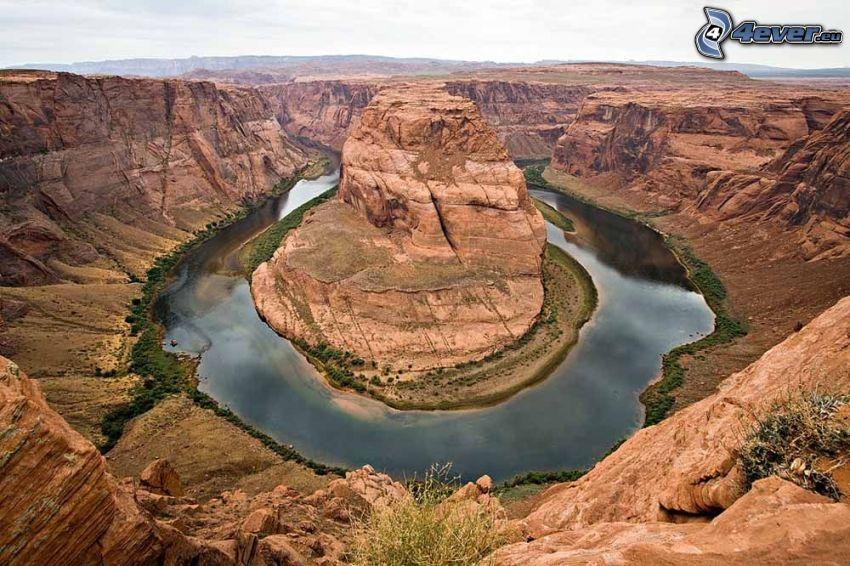 Horseshoe Bend, Grand Canyon, Schlucht, Fluss