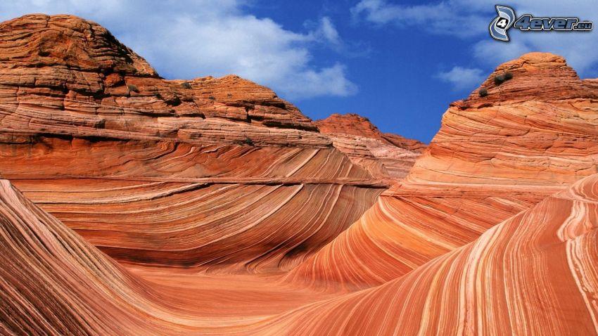 Coyote Buttes, The Wave, Utah, Arizona, USA, Hügel