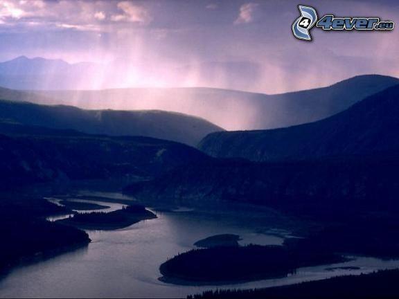 Fluss Yukon, Alaska, USA