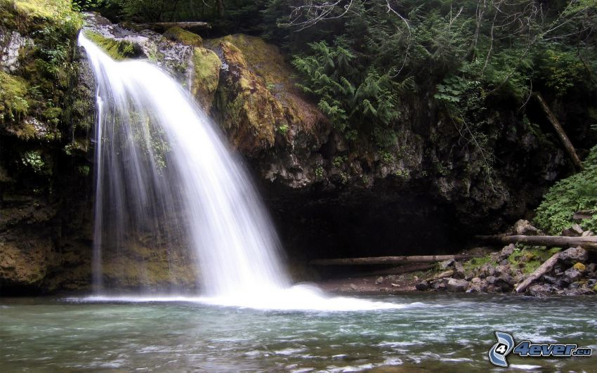 Ironcreek Falls, Wasserfall, Wasser, Felsen