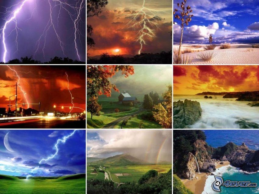 Natur, Blitze