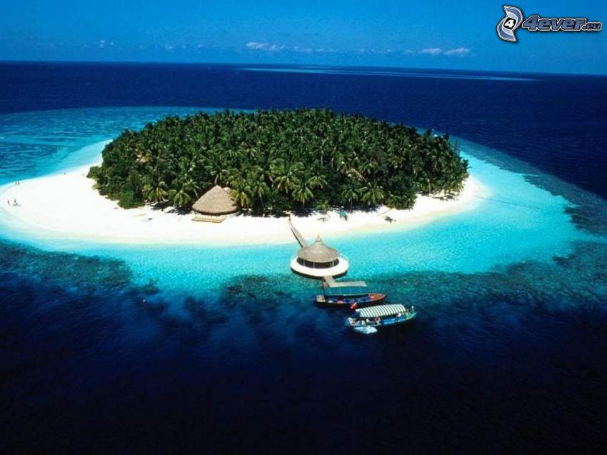 Palmeninsel, Malediven, Boote