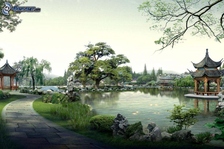 See, Gehweg, China