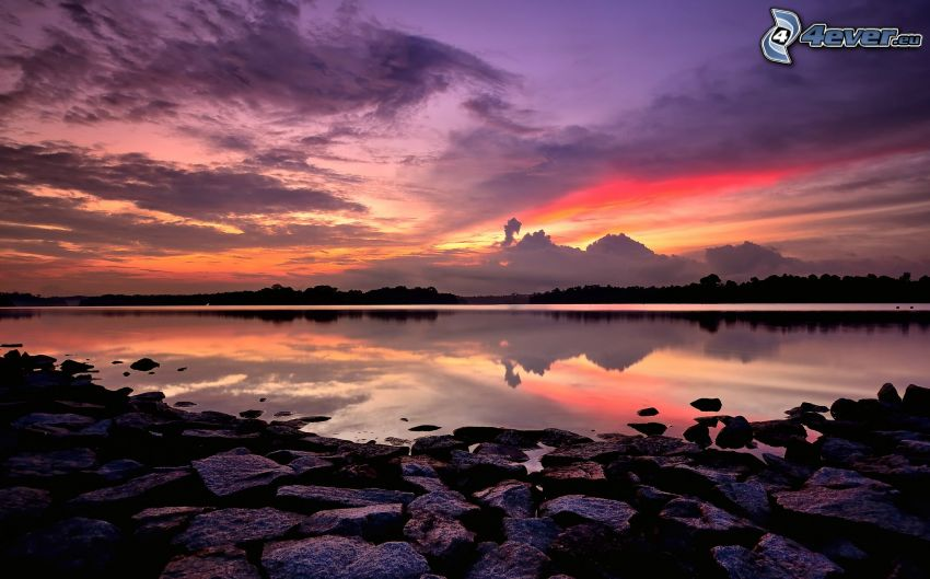 See, nach Sonnenuntergang
