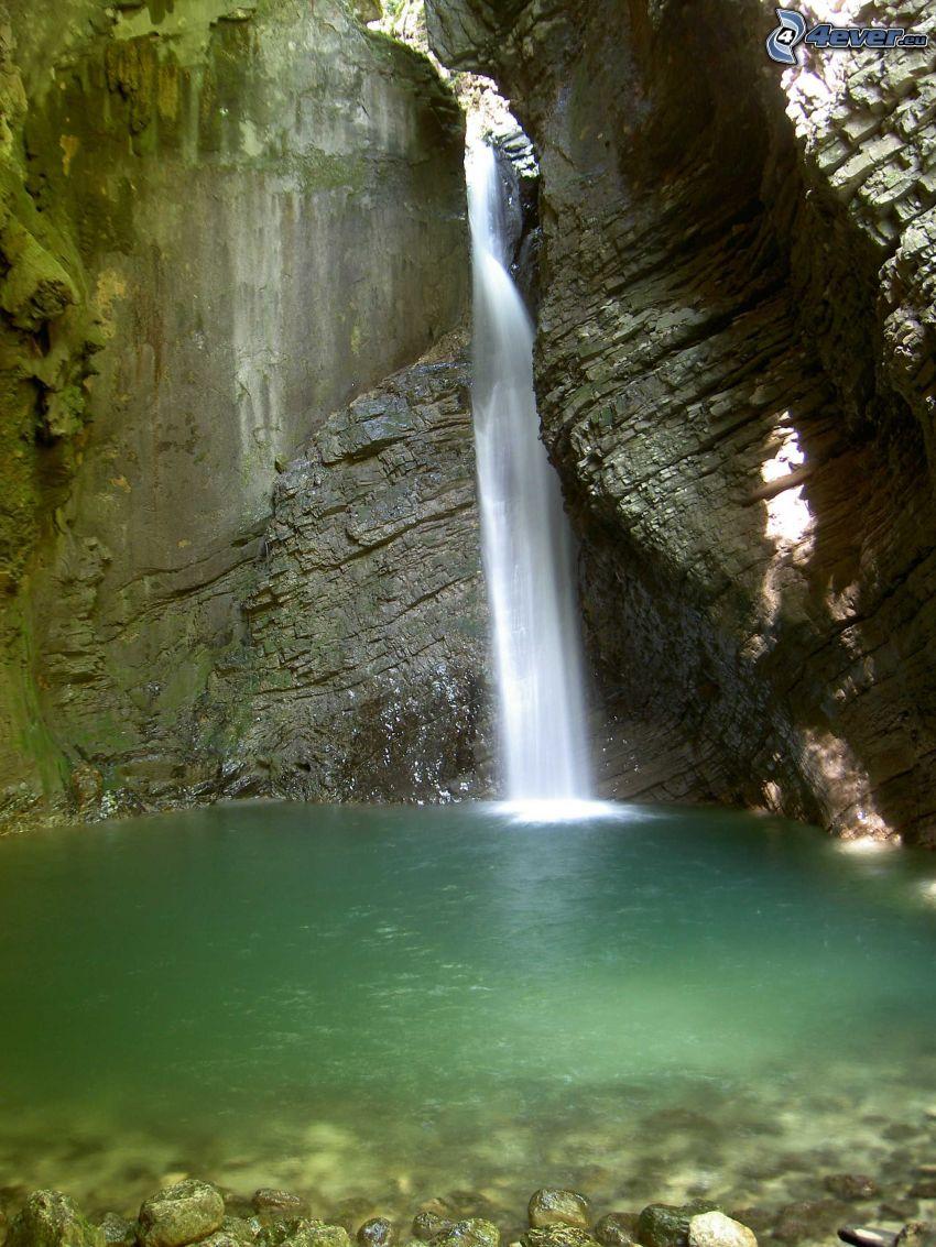 Wasserfall, Kozjak, Slowenien