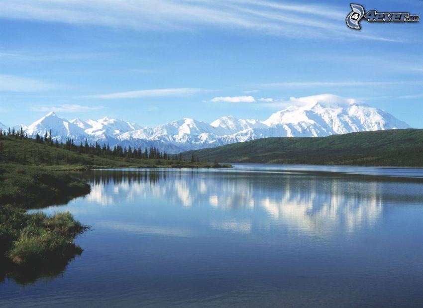 Wonder Lake, Nationaler Park Denali, Alaska