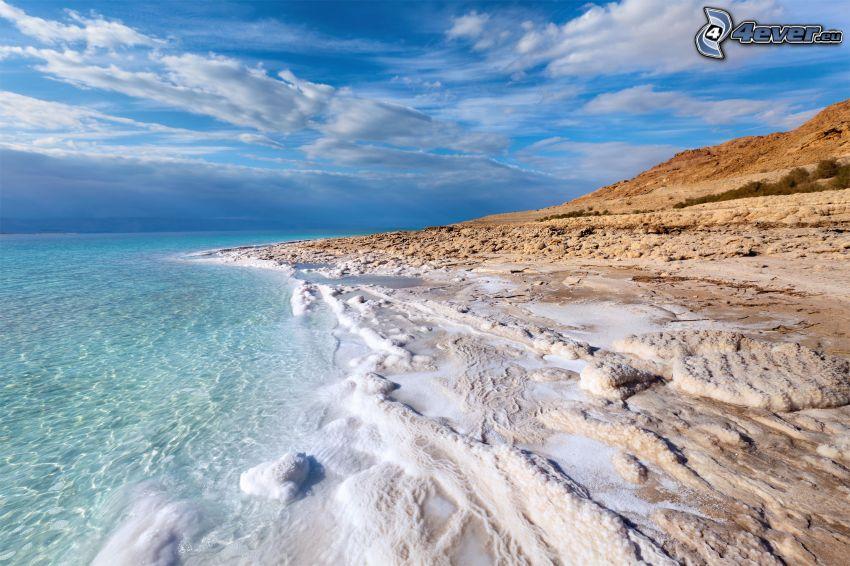 azurblaues Meer, Küste