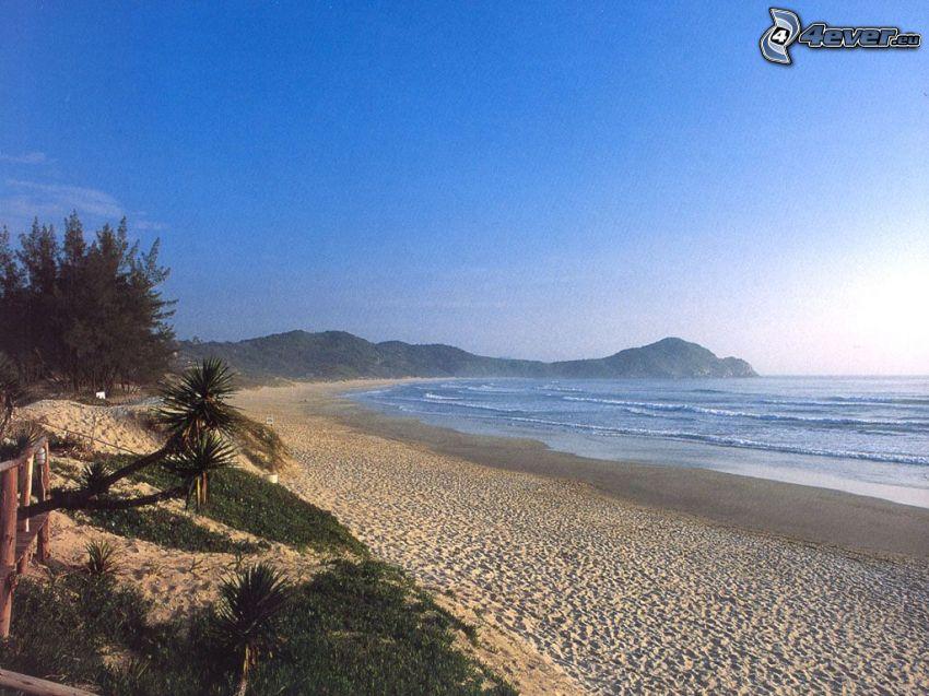 Blick auf dem Meer, Strand, Küste