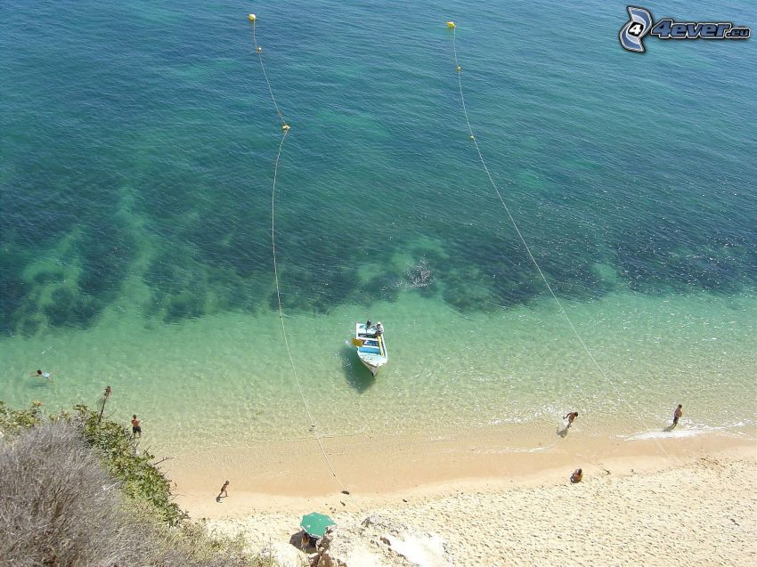 Boot auf dem Meer, Strand, Meer