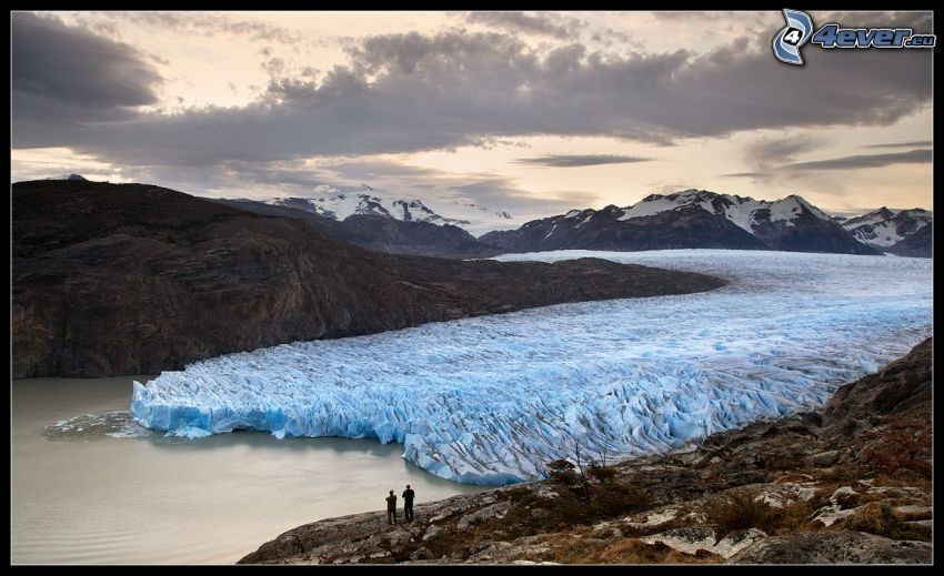 gefrorenes Meer, Gletscher