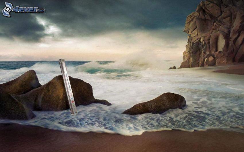 Küste, Felsen im Meer