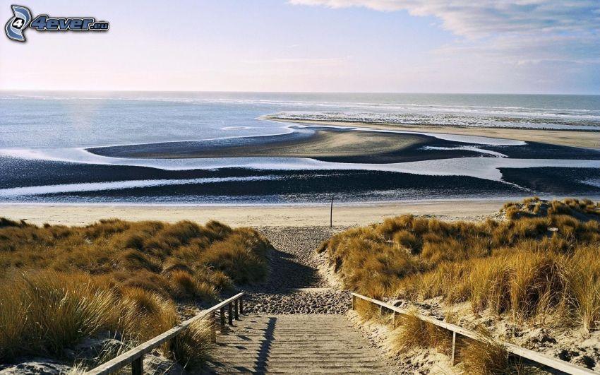 Meer, Küste, Treppen