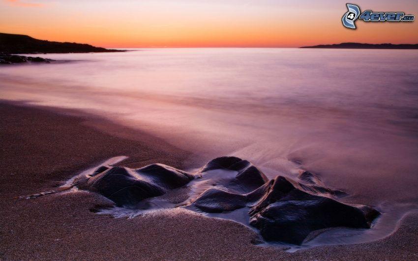 Meer, Strand, Sonnenaufgang