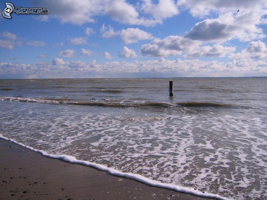 Meer, Strand, Wolken