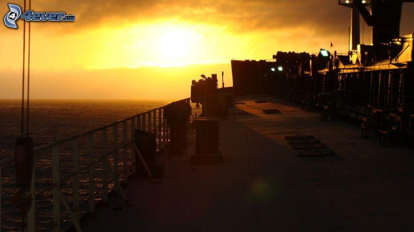 Sonnenuntergang beim Meer