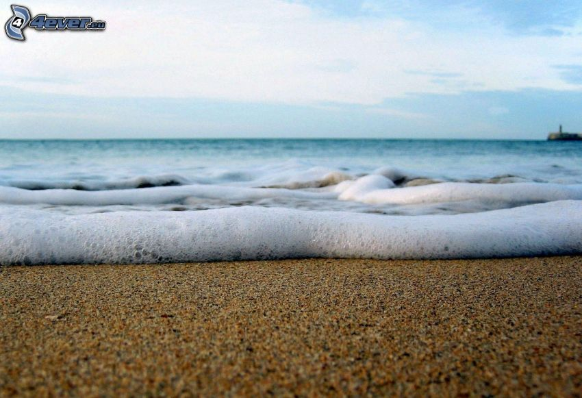 Strand, Meer, Schaum