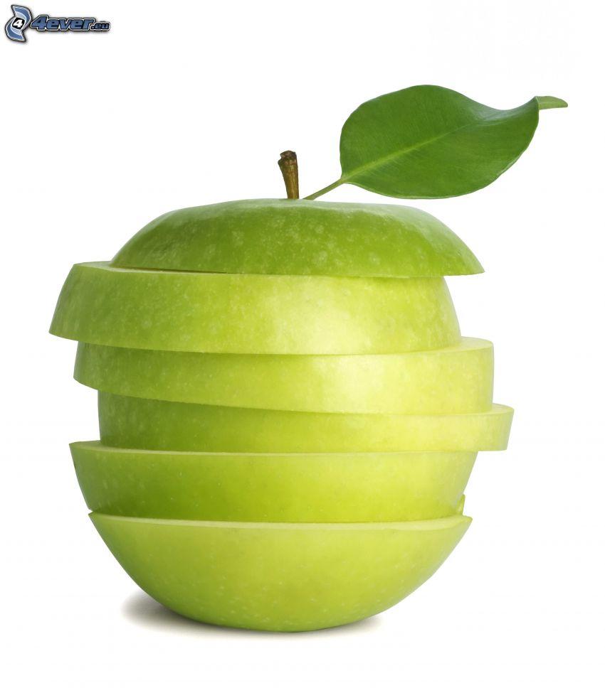 geschnittener Apfel in Scheiben