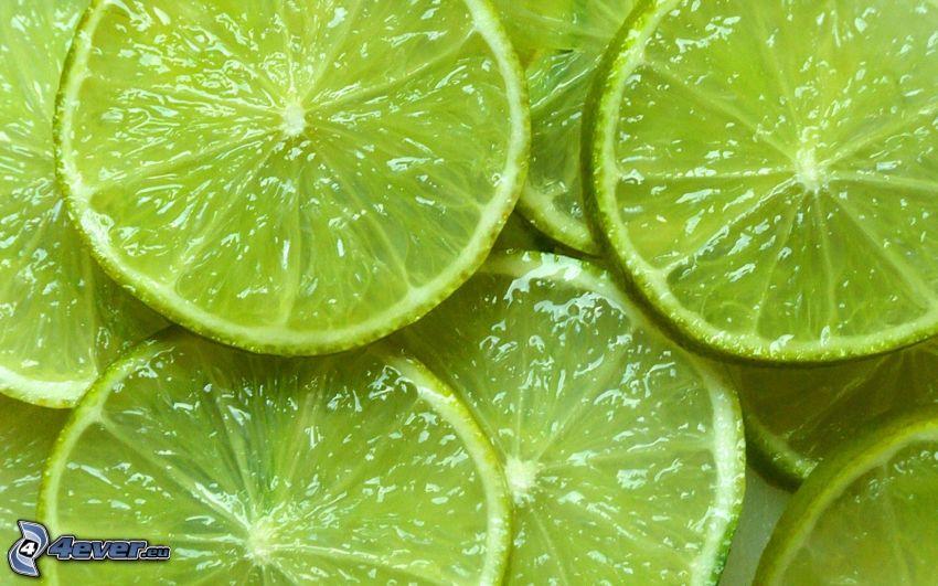 grüne Limettten, Limettenscheibe