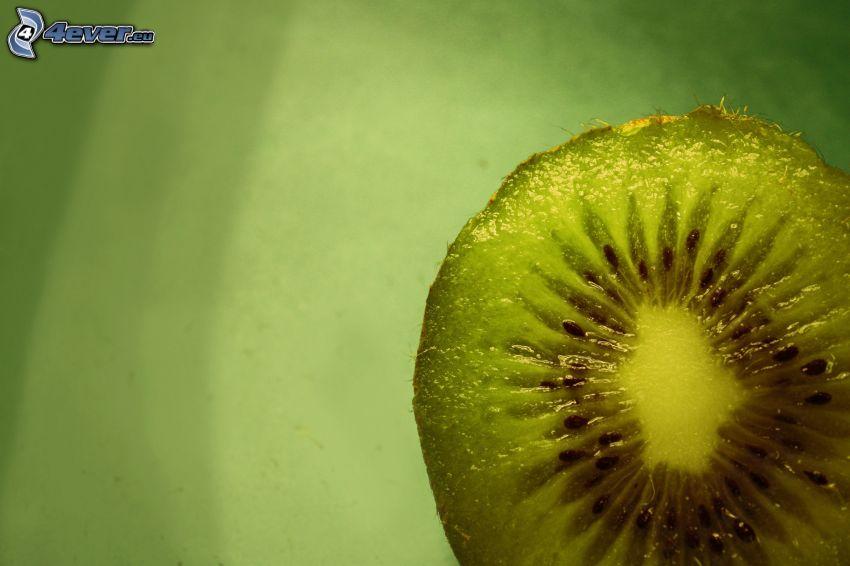 Kiwi in Scheiben geschnitten