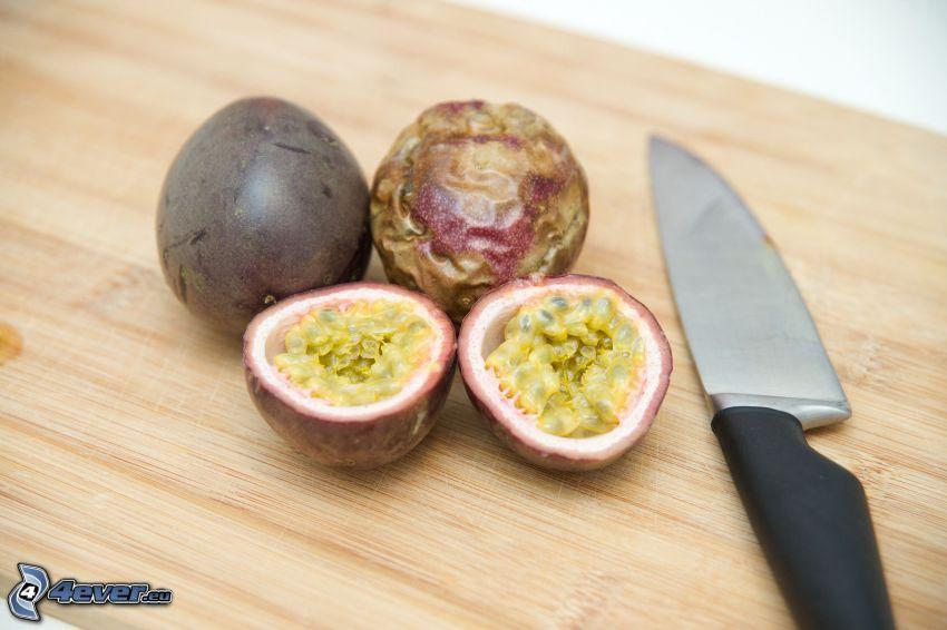 Passionsfrucht, Messer