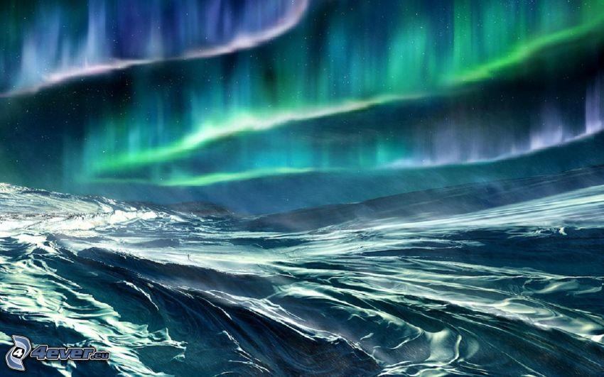 Polarlicht, Meer