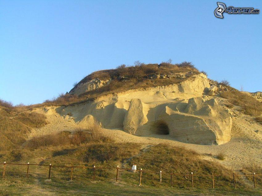 Sandberg, Sand, Hügel, Himmel