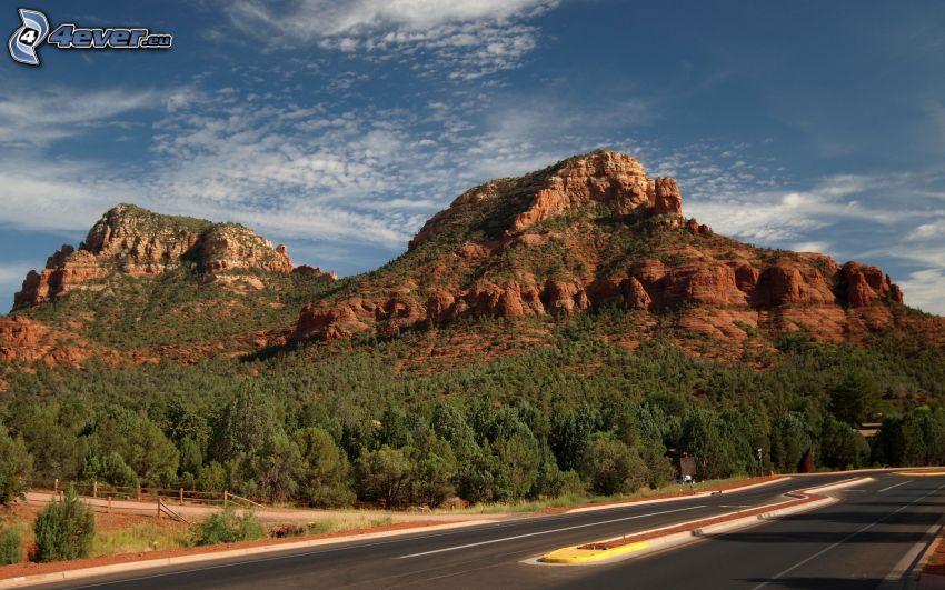 Sedona - Arizona, Felsen, Straße