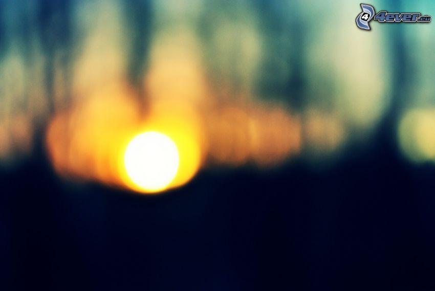Sonnenuntergang, Licht
