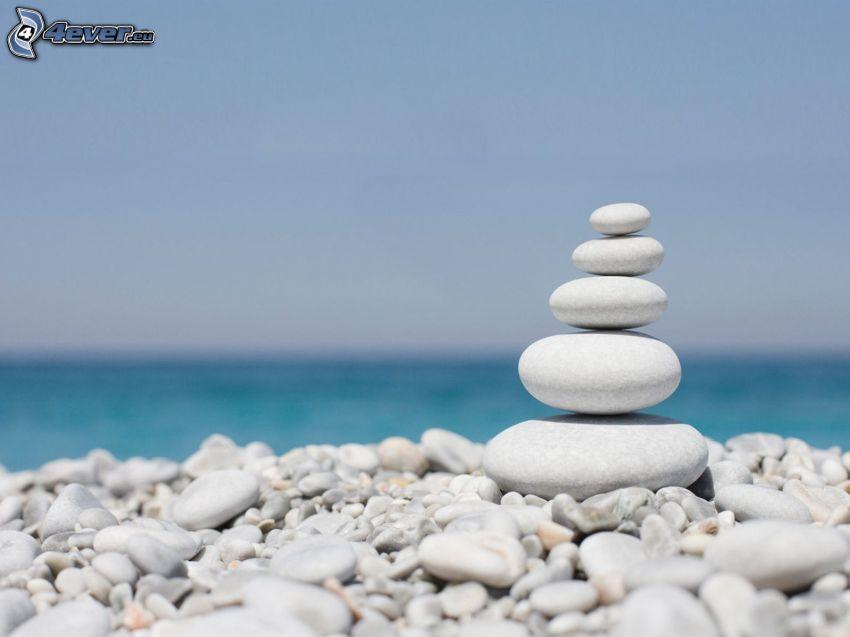 Steine, Blick auf dem Meer