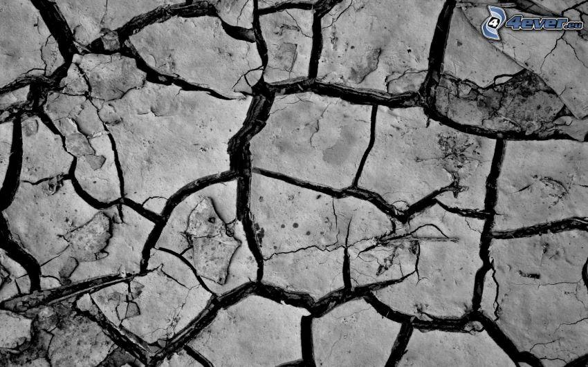 trockene Boden, Risse