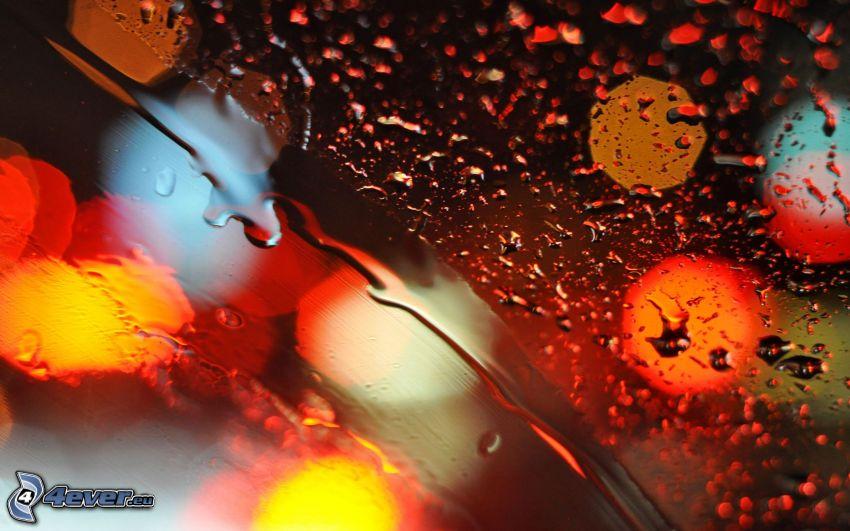 Tropfen des Regens, Glas