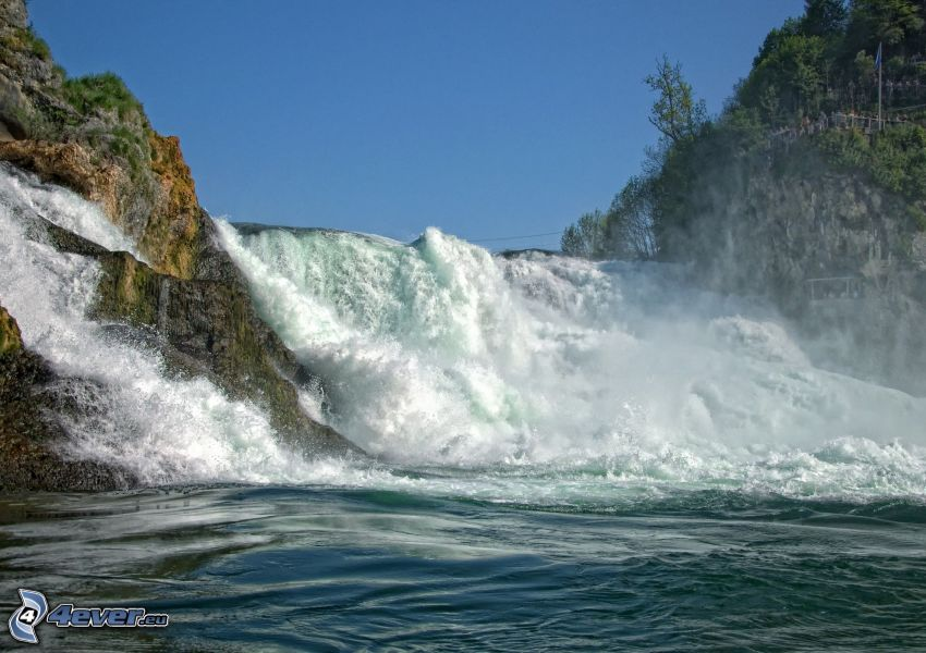 Wasserfall, Wildwasser