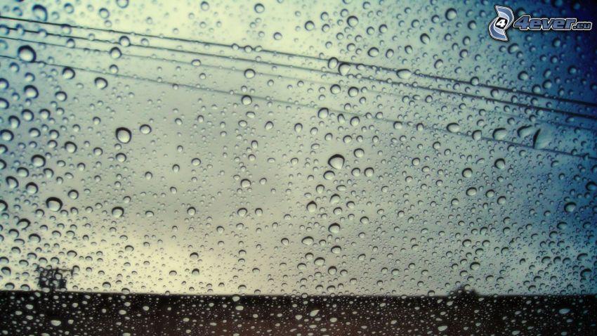 Wassertropfen, Glas