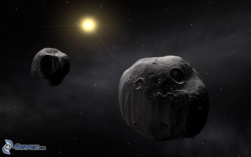 Asteroiden, Sonne