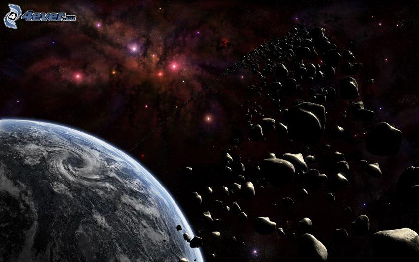 Erde, Asteroidengürtel