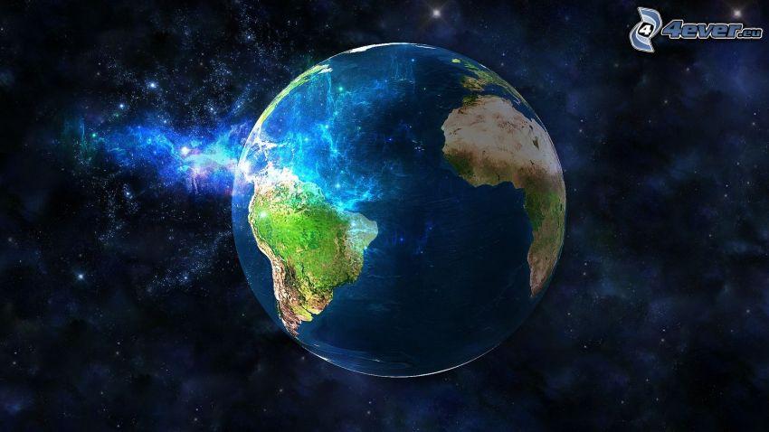 Erde, digitale Kunst