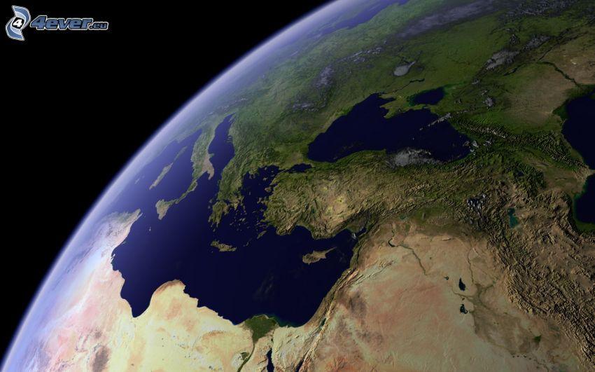Erde, Mittelmeer, Türkei