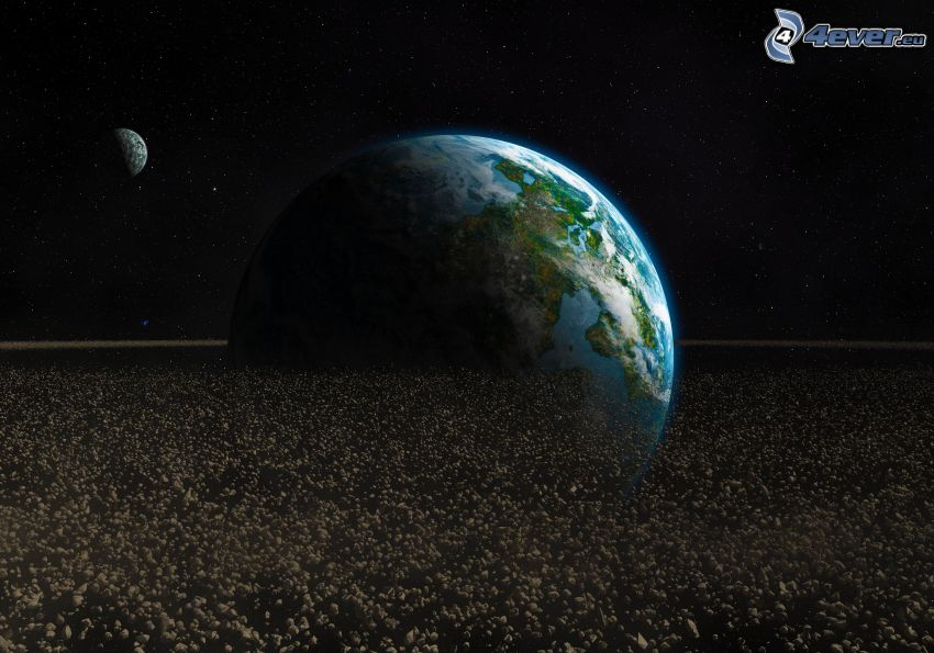 Erde, Mond, Asteroiden