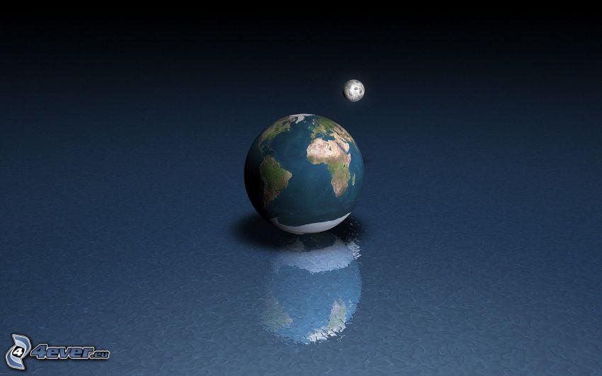 Erde, Mond