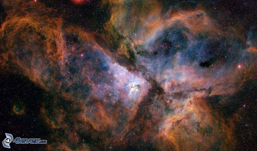 Eta Carinae, NGC 3372, Nebelfleck, Sterne