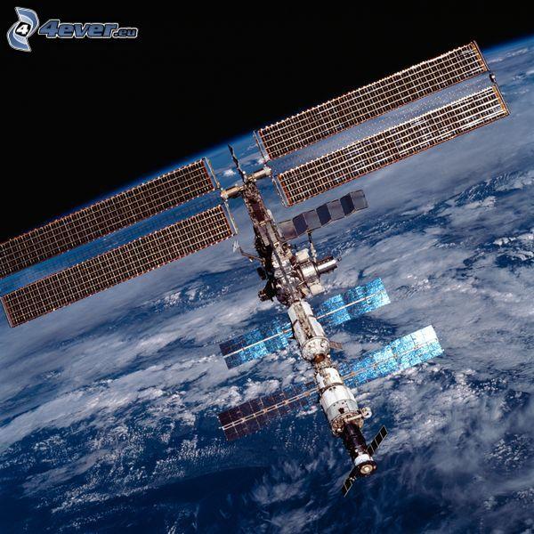 Internationale Raumstation ISS, International Space Station, Universum, Erde