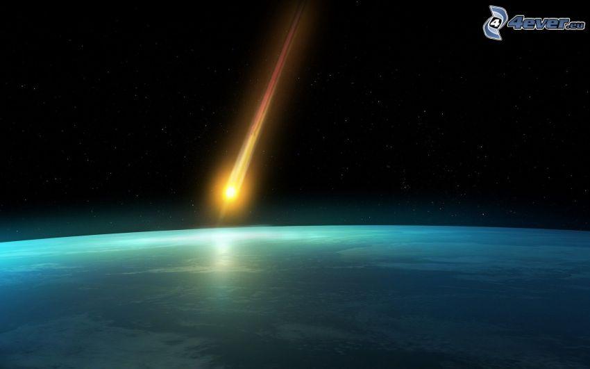 Komet, Erde