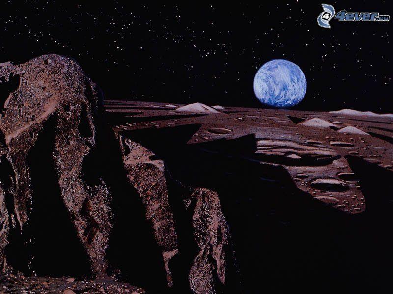 Mond, Erde, Universum