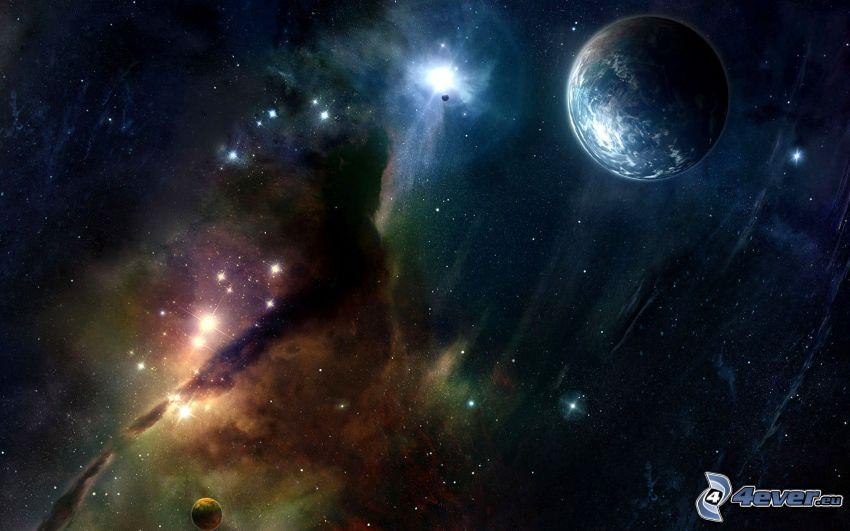 Nebel, Erde, Sterne