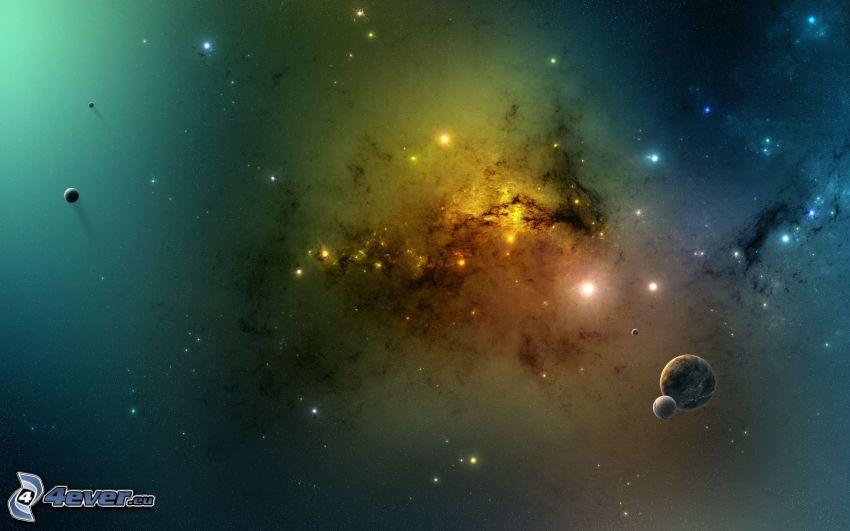 Nebel, Planeten, Sterne