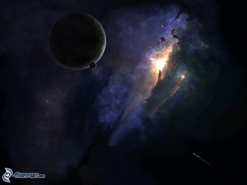 Nebelfleck, Erde, Mond