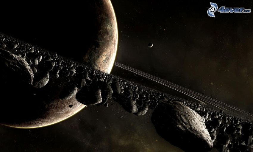 Planet, Asteroidengürtel, Mond