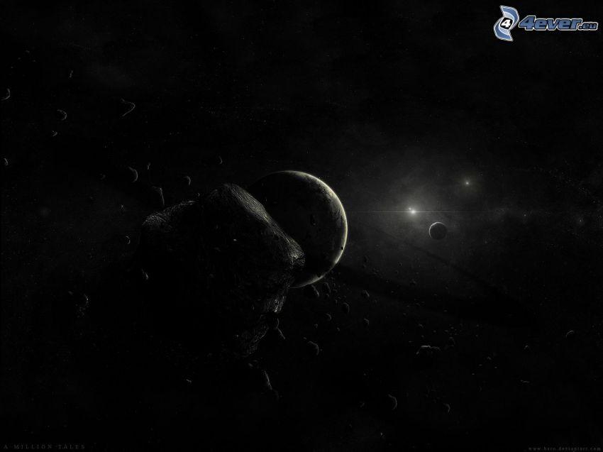 Planet, kosmischer Zusammenstoß