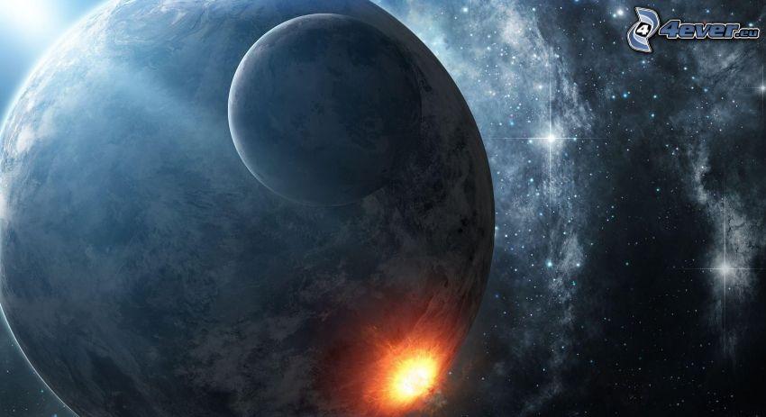 Planet Erde, Explosion